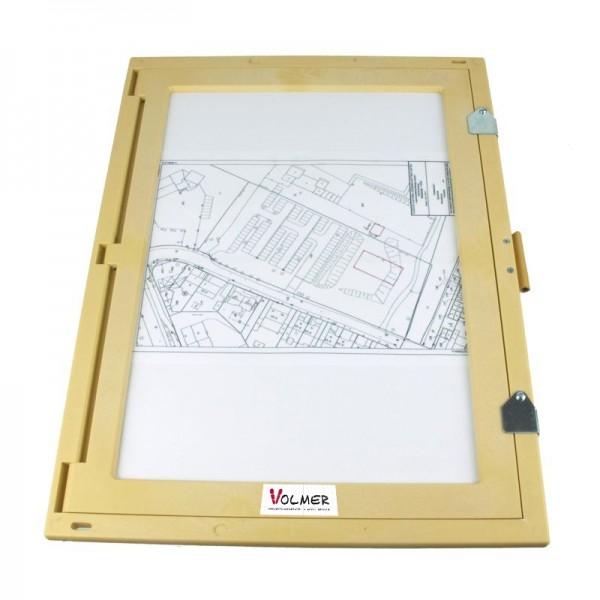 Feldbuchrahmen DIN A3 - Kunststoff, Holzoptik