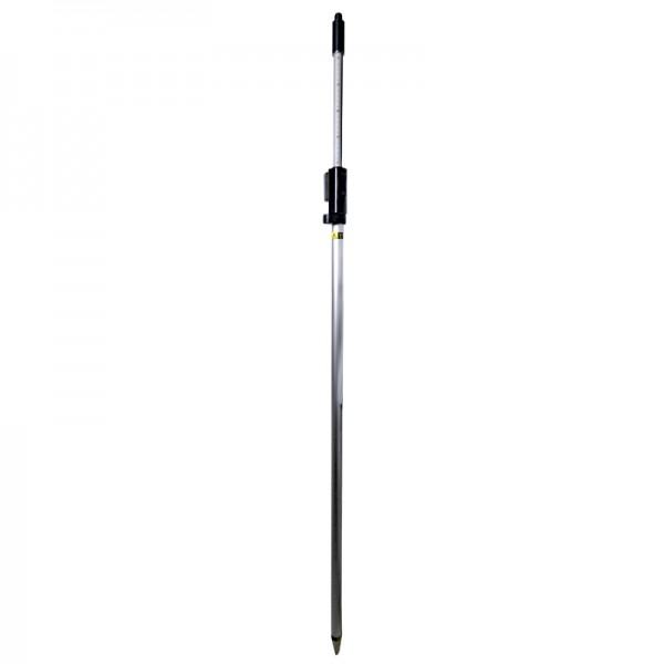 """Prismenstab 215 cm mit Druckklemmung - 5/8""""-Adapter - Kippachshöhe 82 mm - Länge 130 bis 215 cm"""