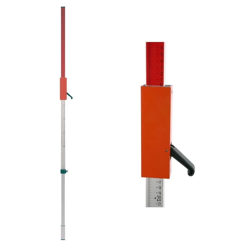 Kombi-Nivellierlatte 2,40 m (Laserlatte, Flexilatte)