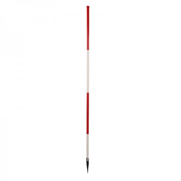Holz-Fluchtstab - leicht -mit Dreilaschenspitze rund - rot/weiß oder weiß/rot