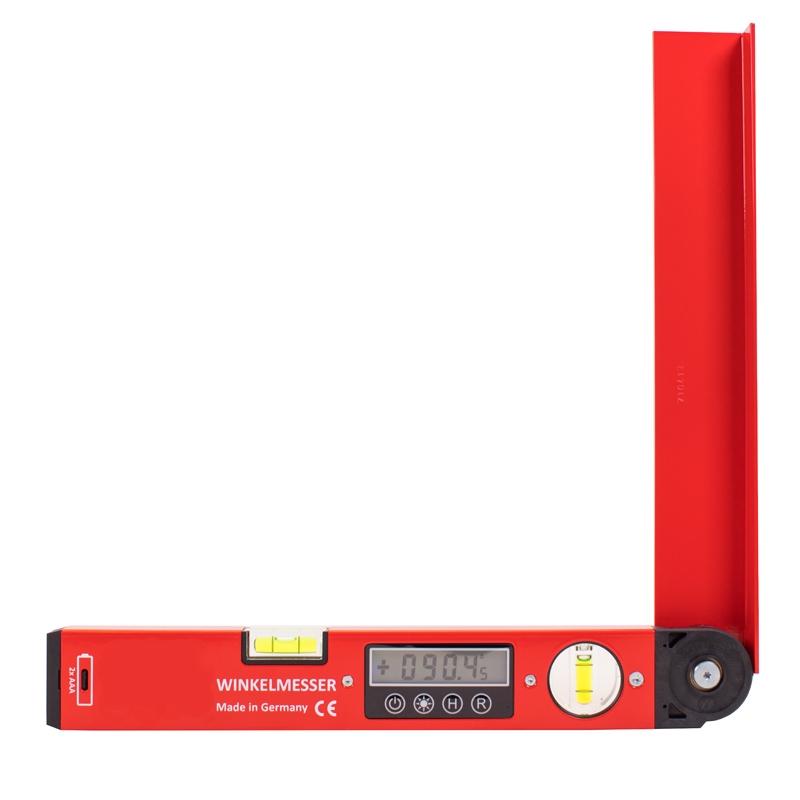 Elektronischer Winkelmesser 35 cm - Digitalanzeige 0,05° Auflösung, Transportlänge 35 cm