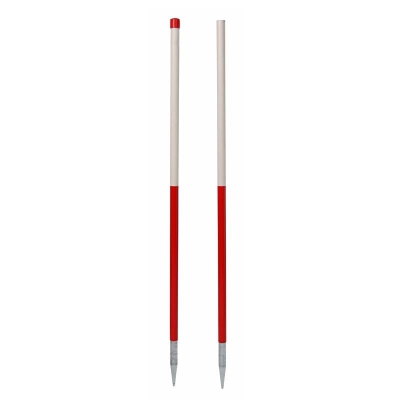 Stahlrohr-Fluchtstab - zerlegbar, mit 2 Spitzen, PVC Mantel - leuchtrot