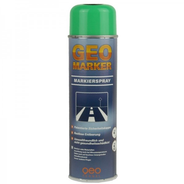 Baustellen-Markierspray in 500ml-Dose - Farbe: leuchtgrün