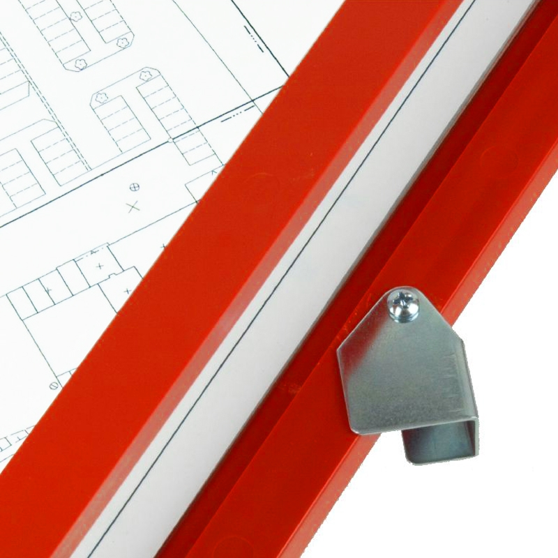 Feldbuchrahmen DIN A4 - Kunststoff - rot