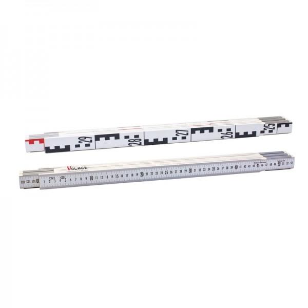Nivellierzollstock 3 m (Geometer-Maßstab), Transportlänge 57,5 cm – E-Teilung / mm-Teilung