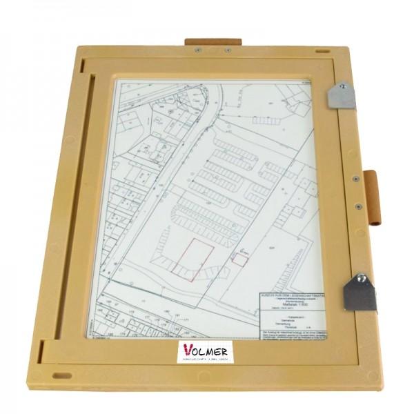 Feldbuchrahmen DIN A4 - Kunststoff, Holzoptik