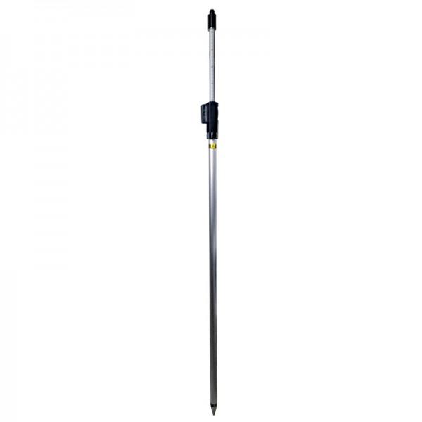 """Prismenstab 215 cm mit Druckklemmung - 5/8""""-Adapter - Kippachshöhe 100 mm - Länge 130 bis 215 cm"""