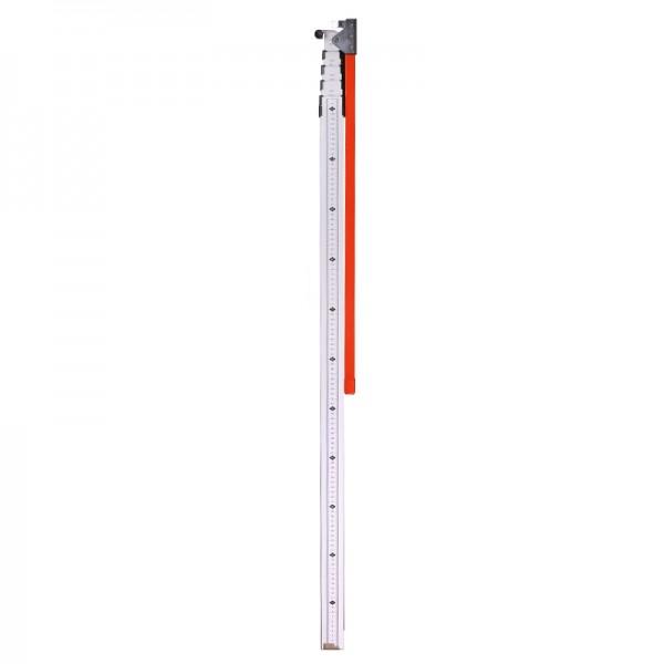 Teleskopmeter 5 m (LKW Höhenmesser) – cm/mm-Teilung, mit Schnabel & Libelle