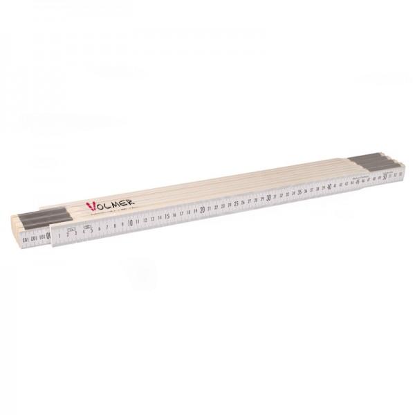 Nivellierzollstock 4 m, (Geometer-Maßstab), Transportlänge 57,5 cm – beide Seiten cm/mm-Teilung