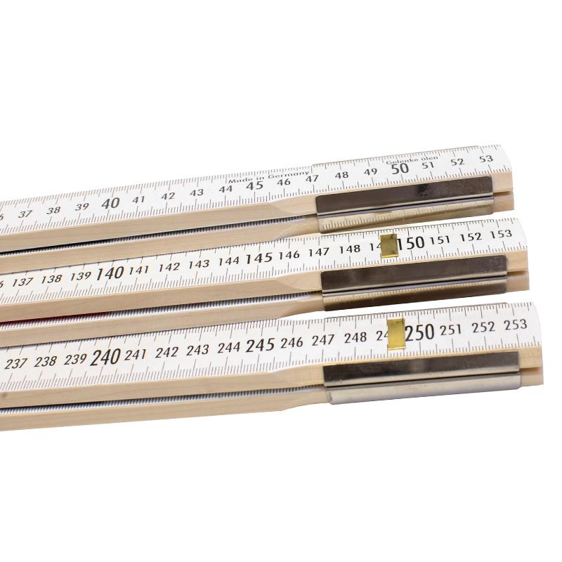 Nivellierzollstock 3 m (Geometer-Maßstab), Transportlänge 57,5 cm