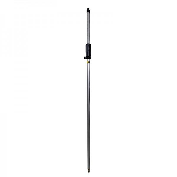 """Prismenstab 215 cm mit Druckklemmung - 5/8""""-Adapter - Kippachshöhe 125 mm - Länge 130 bis 215 cm"""