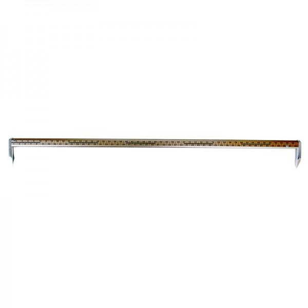 Anreißmeterstock Alunimium 100 cm, cm-Teilung, ungeeicht