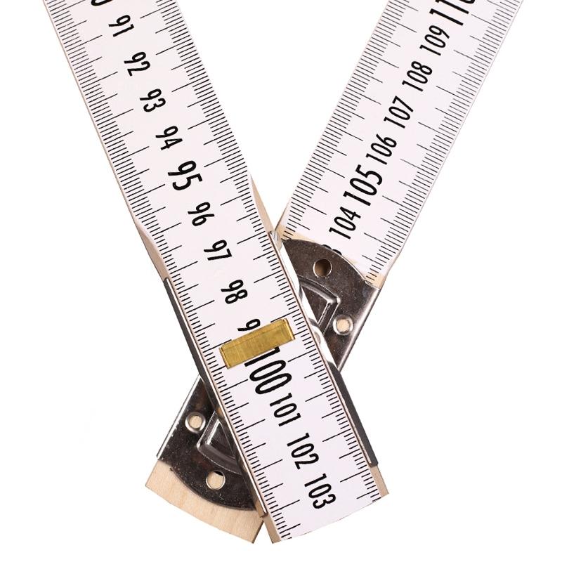 Nivellierzollstock 5 m, (Geometer-Maßstab), Transportlänge 57,5 cm – beide Seiten cm/mm-Teilung