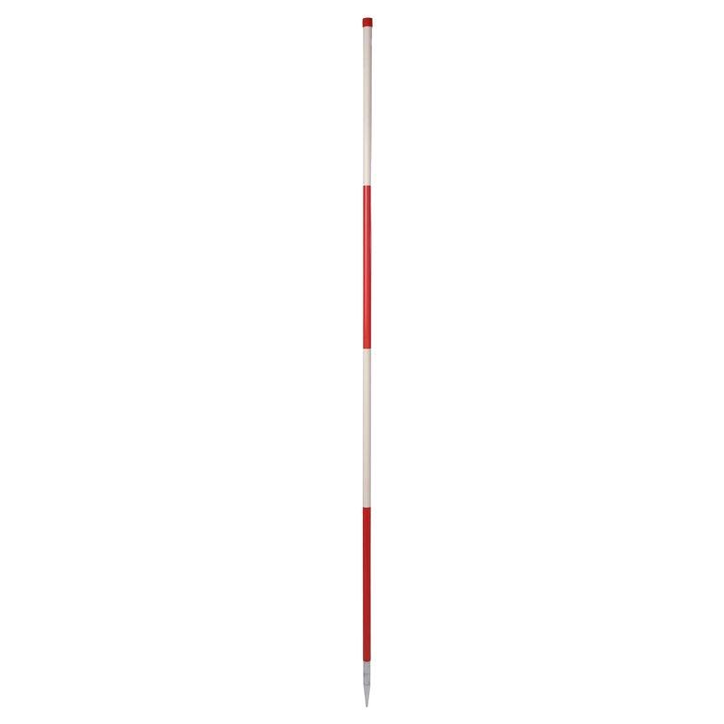 Stahlrohr-Fluchtstab - zerlegbar, mit 2 Spitzen, PVC Mantel