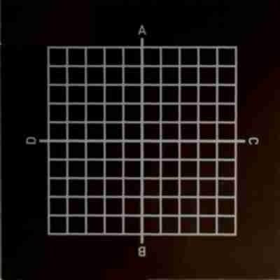 Zieltafel mit Koordinaten-Raster