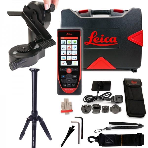 Laserentfernungsmesser DISTO™ S910 von Leica – SET mit Stativ TRI120 & Adapter FTA360-S + Zieltafel