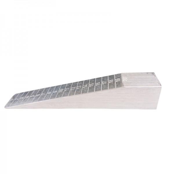 Messkeil, Messbereich 0-20 mm, klein, aus Aluminium