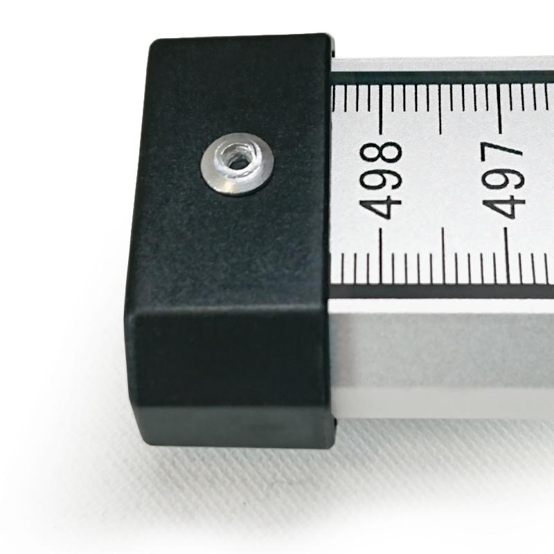 Teleskop-Nivellierlatte 5 m (mit 0 beginnend) – E-Teilung & mm-Teilung, mit Libelle & Nylontasche