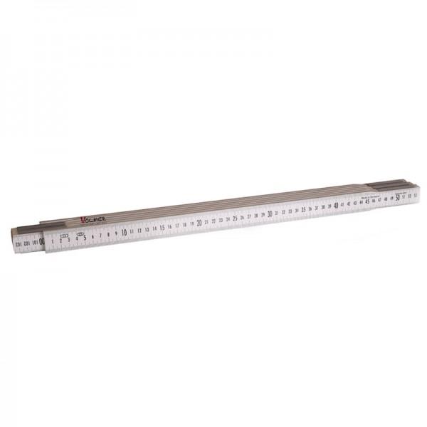 Nivellierzollstock 3 m, (Geometer-Maßstab), Transportlänge 57,5 cm – beide Seiten cm/mm-Teilung