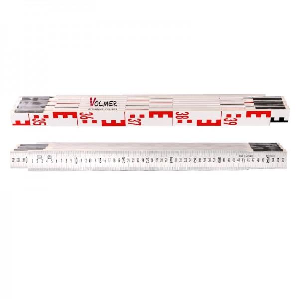Nivellierzollstock 4 m (Geometer-Maßstab), Transportlänge 57,5 cm – E-Teilung / mm-Teilung