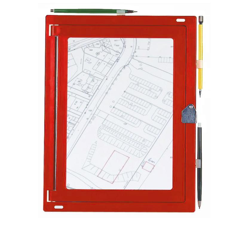 Feldbuchrahmen DIN A4 - Kunststoff, rot