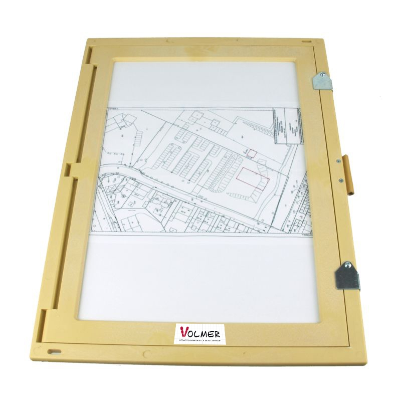 Feldbuchrahmen DIN A3 - Kunststoff (holzfarben)