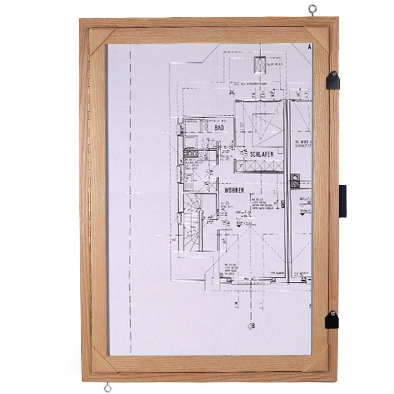 "Feldbuchrahmen DIN A2 (Feldtisch) - Holz, mit Stativadapter 5/8"""