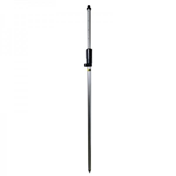 """Prismenstab 215 cm mit Druckklemmung - 5/8""""-Adapter - Kippachshöhe 134 mm - Länge 130 bis 215 cm"""