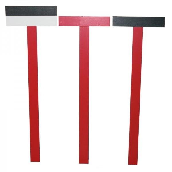 Visierkreuze-Satz - 2 halbe & 1 volles Kreuz - aus Holz - traditionelle Nivelliermeth